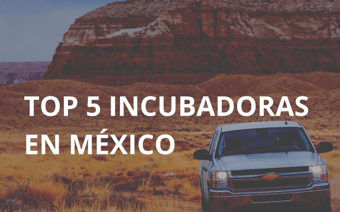Top 5 de las incubadoras en México en 2018