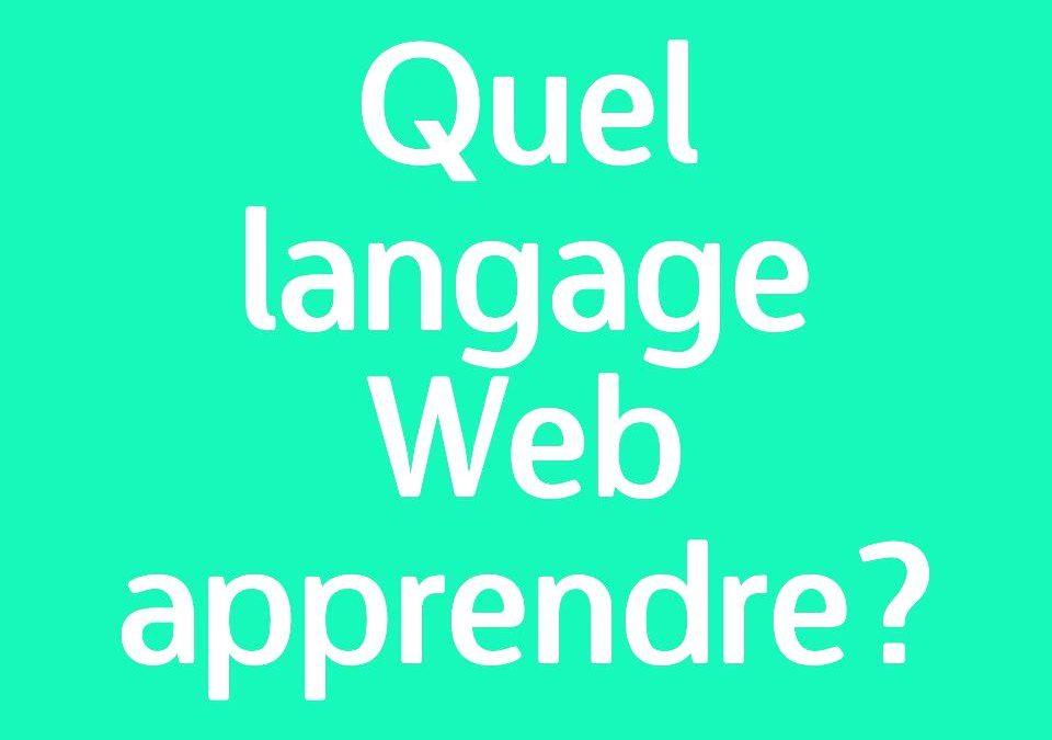Quel langage de programmation apprendre pour créer des sites web ?