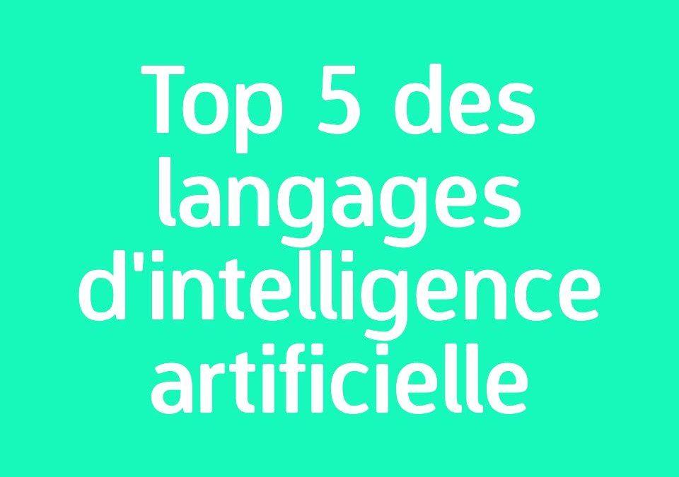Quel langage apprendre pour coder l'intelligence artificielle (AI) ?
